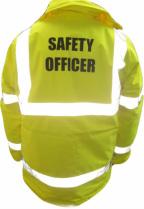 """Hi-vis jacket marked """"safety officer"""""""